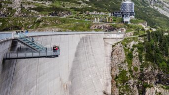Airwalk at the Kölnbrein dam | © Verbund Tourismus GmbH